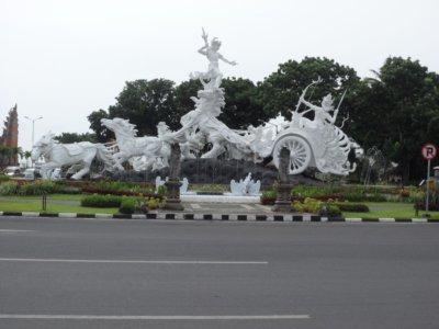 Patung kuda di Tuban Bali